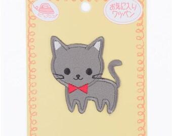 213386 grey cat iron-on transfer sheet 1 piece