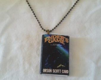 Ender's Game - Mini-Book Pendant - Orson Scott Card - Ender's Game Necklace - Ender's Game Pendant - Science Fiction - Novel - Book Pendant