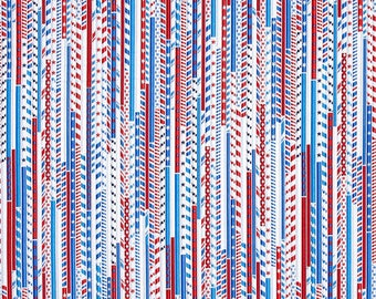 Drawing Straws White - Kanvas / Benartex cotton woven fabric by the yard