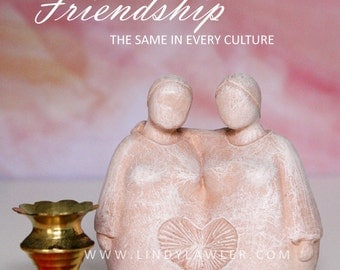 Friendship - Best Friend, Sister, Mother Daughter, Sister Circle Gift Goddess Statue Doula Midwife Gift Mother Earth Sculpture Pagan