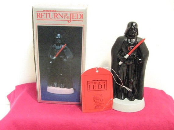 Vintage Darth Vader ROTJ Sigma Porcelain Figurine NMIB in Box ca: 1983, Star Wars Return of the Jedi Figure by Towle