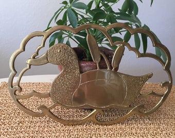Brass Duck Trivet