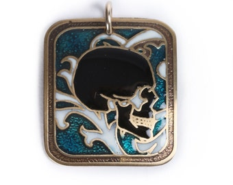 victorian style skull pendant, skull pendants for men, skull jewelry women, sugar skull charm, victorian jewellery, mini skull necklace