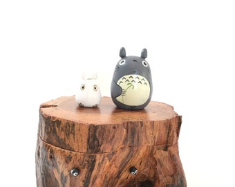 TOTORO Teak Wood Box Studio Ghibli doll figure toy 182