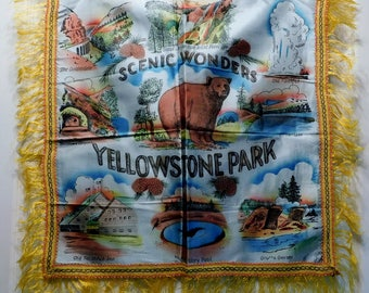 Vintage YELLOWSTONE PARK Souvenir Pillow Cover-Never Used-NOS