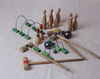 Bowling Pins, Skittles, Min Croquet, Game Pieces, Scupture...