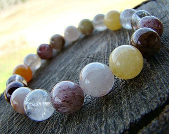 Quartz Bracelet, Stone Bracelet, Beaded Bracelet, Gemstone Bracelet, Womens Bracelet, Bracelet Beaded, Stretch Bracelet