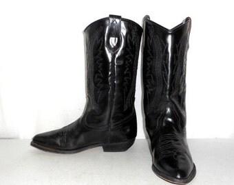 Womens Size 7 Seychelles Western Fashion Cowboy Boots Black Distressed Indie