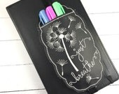 Planner Accessories - Just Breathe pen pocket - planner band - fits erin condren mambi happy planners and bullet journals - pen holder band