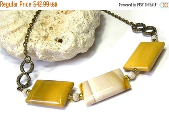 On Sale Yellow Moukaite Necklace Beaded Necklace Jewelry for Women Top Selling Jewelry Gifts for Women