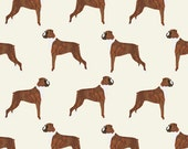 Tan Brown Boxer Dog Fabric -  Dogs, Boxer, Cute Dog, Pet Dogs, Boxer By Petfriendly - Cotton Fabric By The Yard With Spoonflower