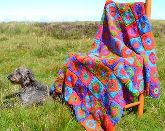 Harlequin  Crochet Afghan/Blanket  - PDF CROCHET PATTERN