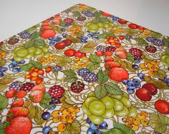 1980s All Occasions Any Occasion Wrapping Paper Colorful Fruit Hallmark Gift Wrap