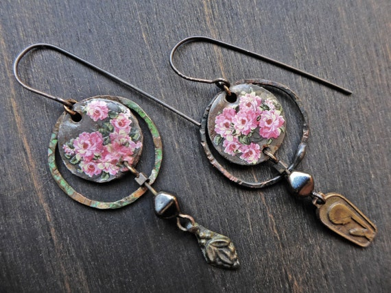 "Little handmade artisan earrings, ""Sisters of Joy"""