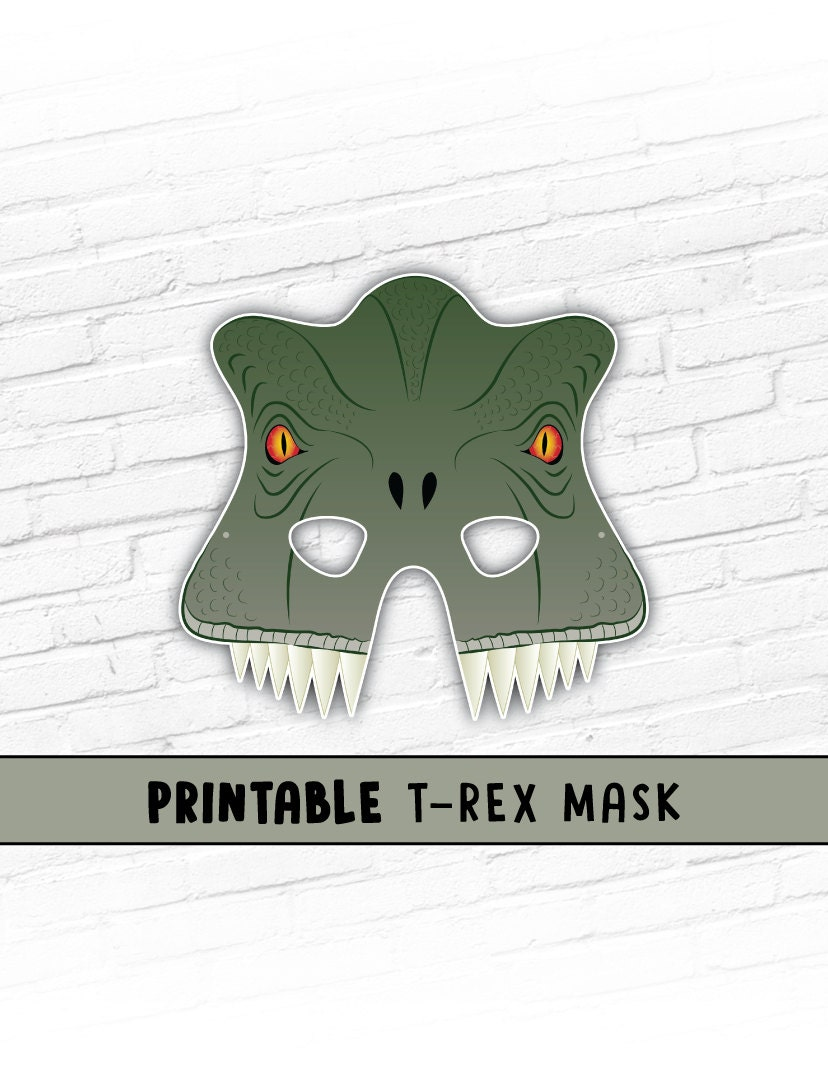It's just a graphic of Shocking Printable Dinosaur Masks