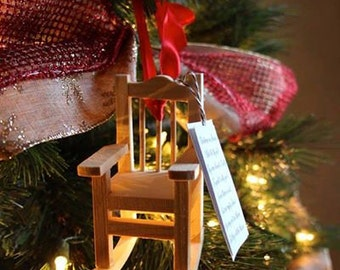 Chair Ornament - To Honor Loved Ones who have Passed