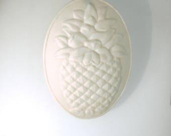 Gift for Her - HOUSEWARMING Gift - Porcelain Ornament - handmade - WELCOME - pineapple - pineapple art - ornament-light catcher -  ornament