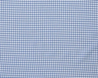 Blue Gingham Fabric, Royal Blue and White Checked Cotton Fabric, 3 mm check  cotton fabric for patchwork and crafts