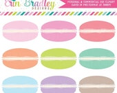 70% OFF SALE Macaroon Clipart Commercial Use Macaron Clip Art Food Dessert Graphics Personal & Commercial Use