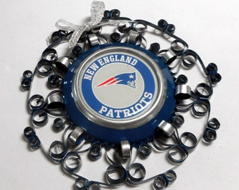 New England Patriots Recycled Aluminum Can Ornament