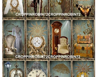 Vintage Steampunk Scrapbook Card Embellishments Hang Gift Tags