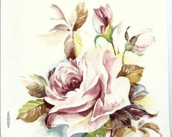 Decals for Ceramics, floral, roses, vintage, pink - BULK LOT