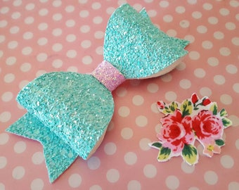 Glitter hair bow - Bows hair accessory - Hair clip -  Sparkly hair bows