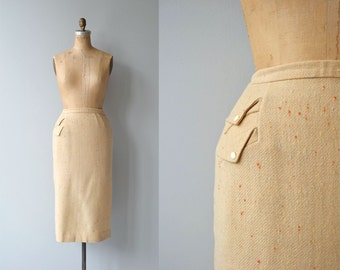 Faya pencil skirt | vintage 1950s pencil skirt | wool 50s skirt