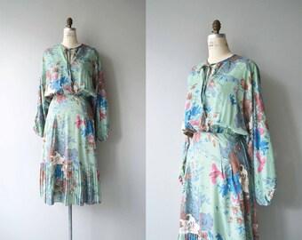 Ars Botanica dress | vintage 1970s floral dress | floral print cotton dress