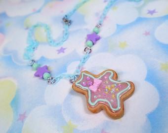 Fairy Kei necklace - Teddy bear cookie