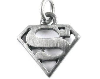 DC Comics Originals Silver Metal Charms - Superman Logo (6 Pieces)