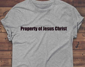 property of jesus christ t shirt,funny tshirt,gym shirt Gifts For women ladies T Shirt Gifts For Her Tee,god,cross, holy ghost, religious,