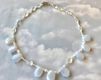 Chalcedony Cloud Necklace