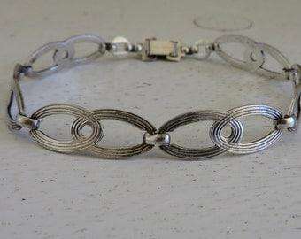 Vintage Sterling Silver WRE Chain Link Bracelet