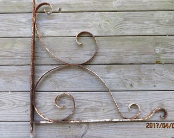 Antique Large Handmade Cast Iron Sign Bracket