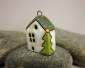 Holiday Home...House Pendant in Stoneware