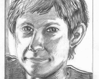 Pencil sketch John Watson, Sherlock