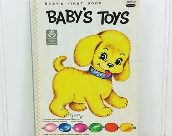 Baby's Toys, Baby's First Book, 1966 Whitman Publishing Plastic Paper Book