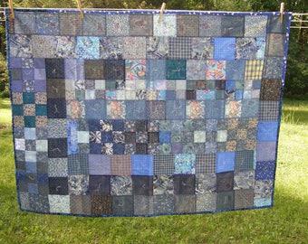 Lightweight Blue Summer Quilt