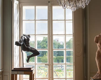 Paris Photography, Rodin Museum, Window onto the Gardens, Classic Paris, Paris Decor, French Wall Art, Chandelier, French Architecture