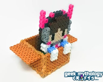 Overwatch DVa Cardboard Box Gamer Gremlin 3D Clinging Figure