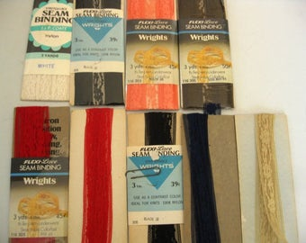 4 Packages of Lace Seam Binding For Sewing, Art Projects, Crafts, Plus Extra Leftover On Cards