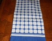 Vintage linen Royal Geometric towel