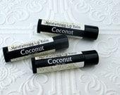Coconut Lip Balm, Super creamy moisturizing formula, tropical fruit flavor