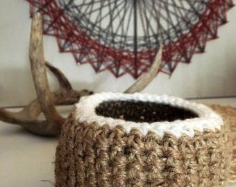 Twine and Wool Basket
