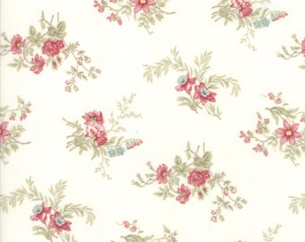 Porcelain White Poetry Prints Fabric - Moda - 3 Sisters - 44132 11