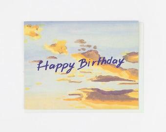 Happy Birthday Morning Sky Card