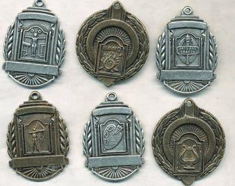 ART DECO AWARD Medals - 6 Different Awards