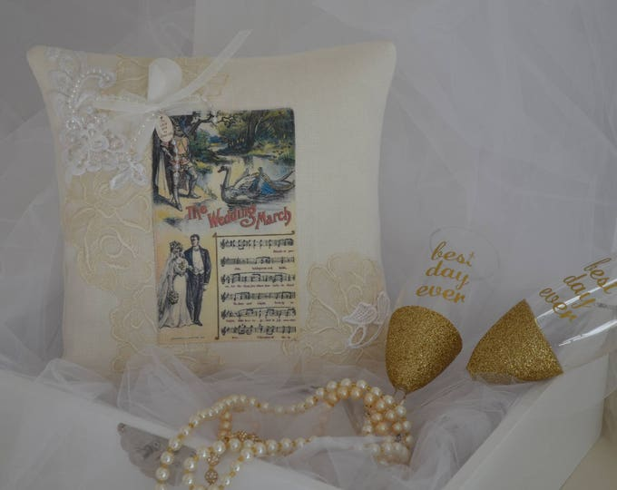 "Wedding Ring Bearer Pillow ""The Wedding March"""