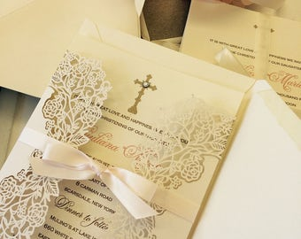 Baptism, Christening, Baby Shower Invitation